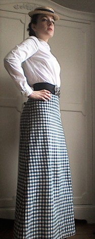 Edwardian Miss Winter The Assassination Bureau cosplay gingham skirt