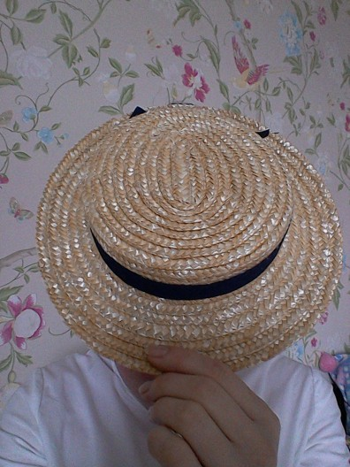 Straw boater tilt hat reconstruction