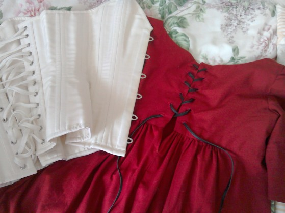 Lace up back and corset