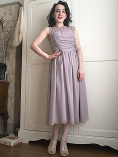 Silk ruched dress