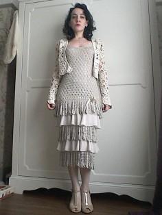 Crochet drop waist dress Karen Millen