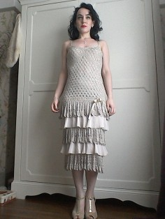 Karen Millen crochet dress Twenties style