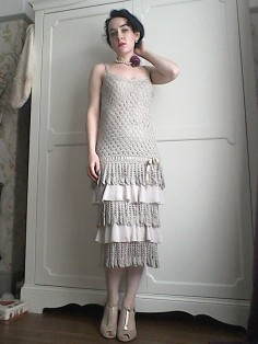 Karen Millen crochet dress Twenties style-2