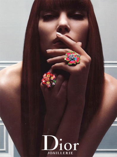 Dior Jewellery enamel rings advert