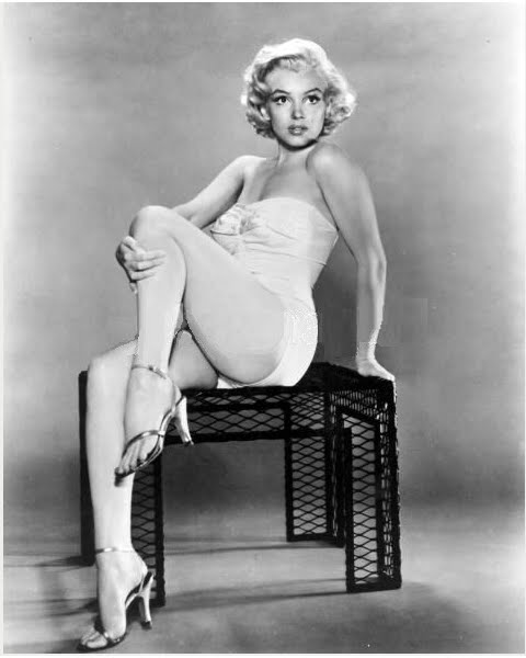 Gold sandals - Marilyn Monroe publicity shot