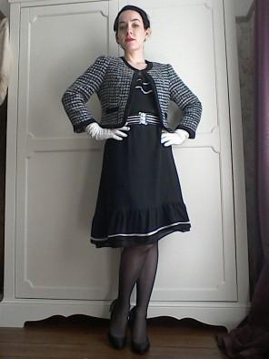 Chanel style tweed box jacket