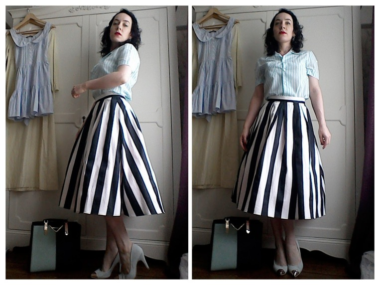 Fifties style candy stripes
