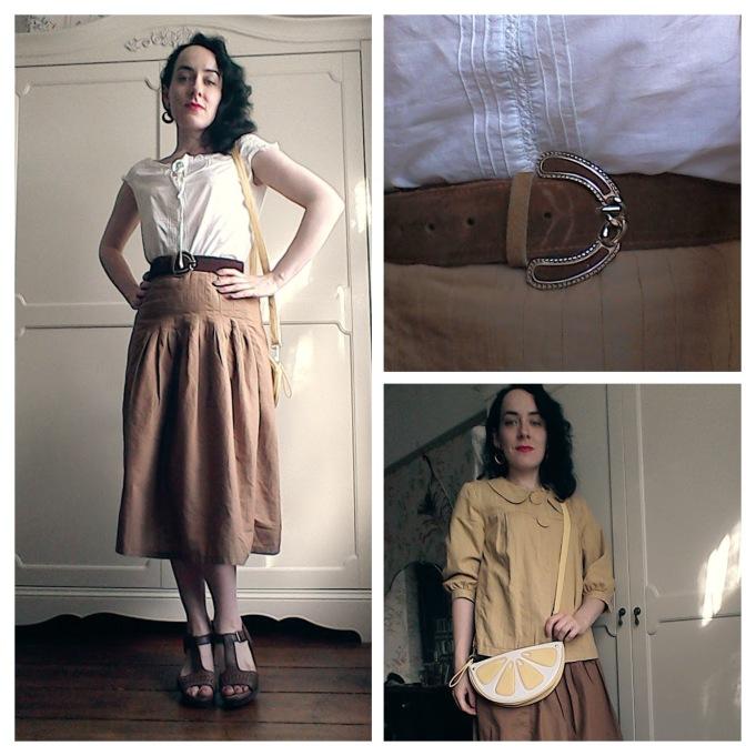 Thirties prairie The Girl loves vintage dirndl skirt pea coat