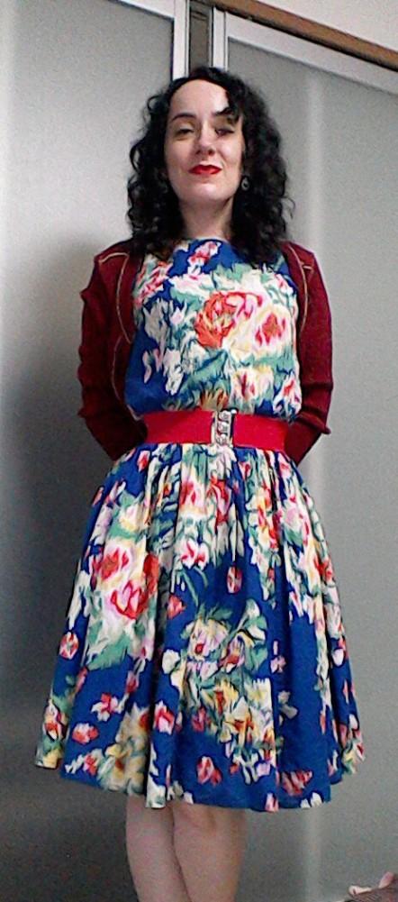 Bright floral print dress