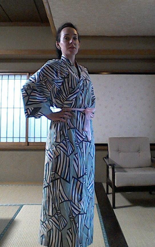 Traditional Japanese Yakata and view of the room inside Ryokan