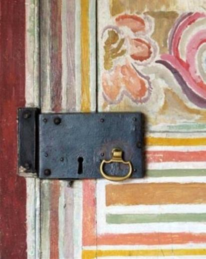 Painted door detail from Charleston, Suffolk Bloomsbury Twenties Thirties