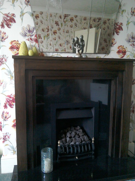 Art Deco inspired mantelpiece solid wood fireplaces