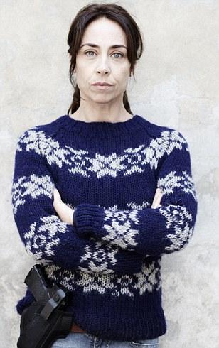 Blue Forbrydelsen jumper Sofie Gråbøl Sarah Lund The Killing series 3