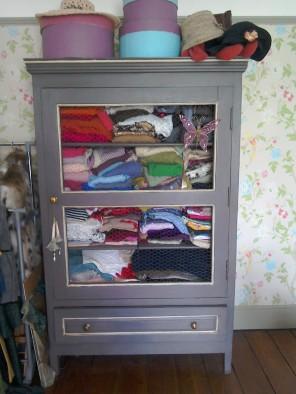 Painted French armoire AMPM