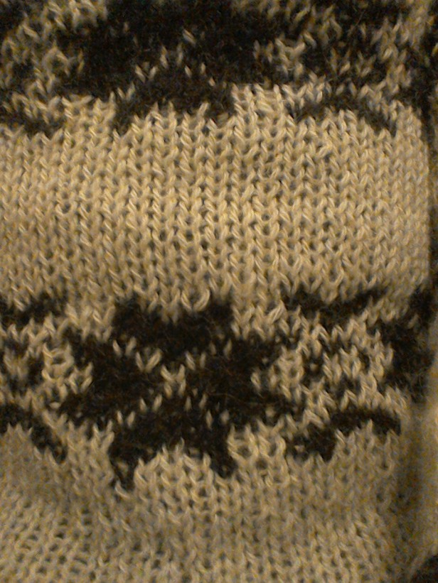 Fairisle detail-The Killing series 1-my cream jumper-Snowflake pattern Forbrydelsen