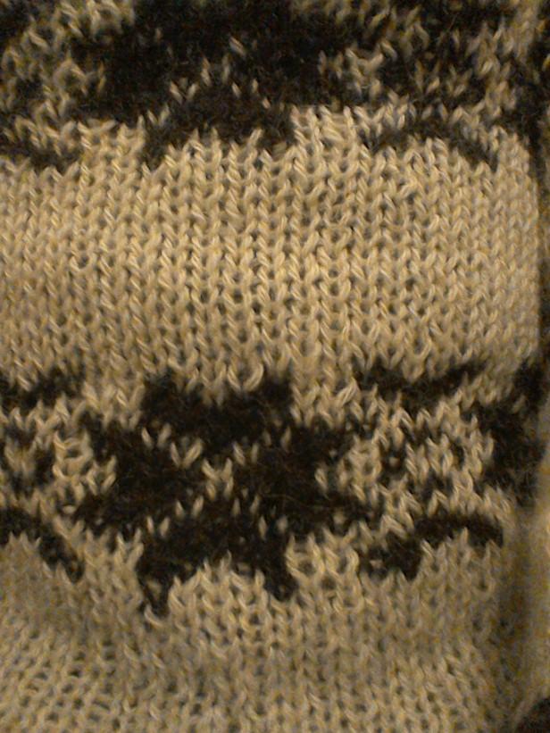 Fairisle detail-The Killing series 1-my cream jumper-Snowflake pattern Forbrydelsen