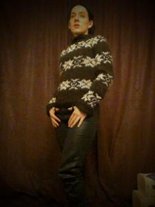 black The Killing series 2 jumper I knitted Forbrydelsen