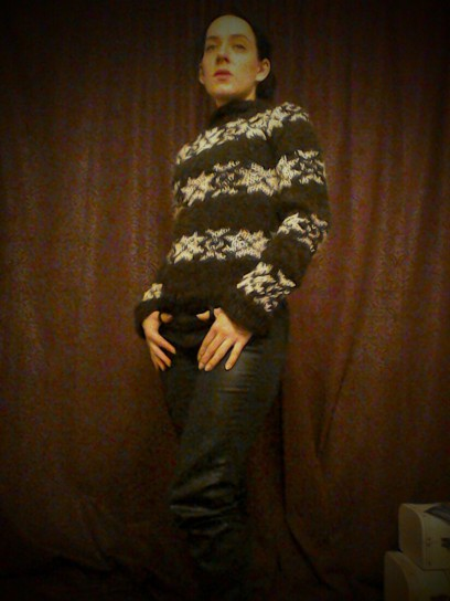 black The Killing series 2 jumper I knitted Forbrydelsen