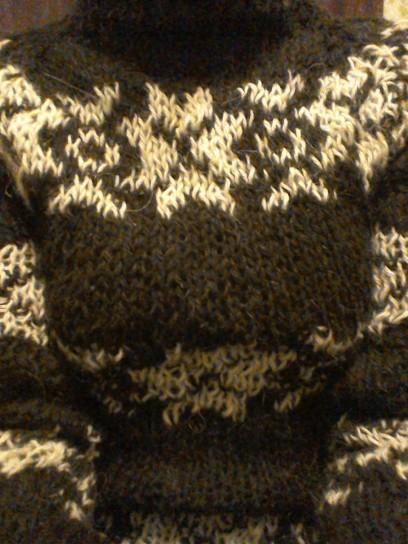 Pattern detail black The Killing series 2 jumper I knitted Forbrydelsen