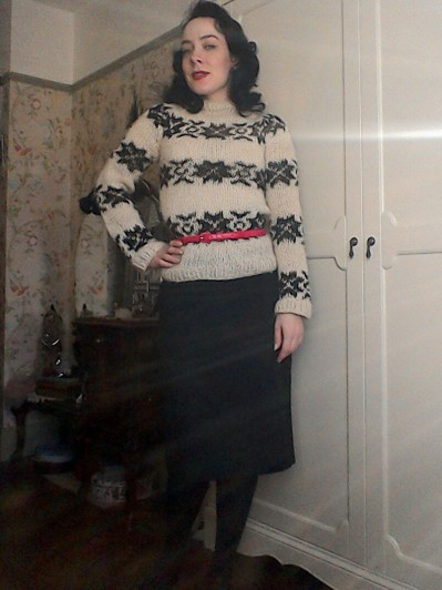 The Killing Sarah Lund's repro Jumper with pencil skirt vintage styling