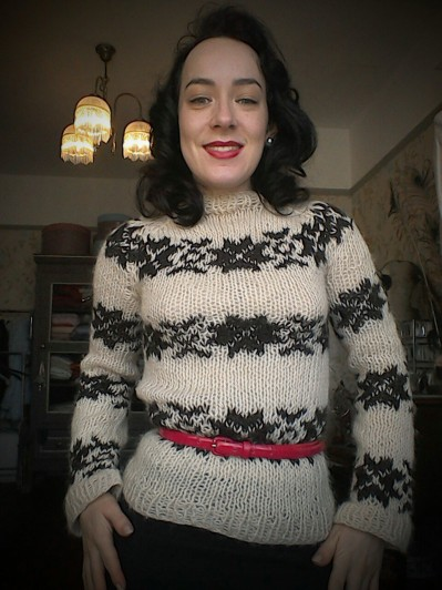 Mixing vintage and Nordic noir The Killing Sarah Lund's jumper cream