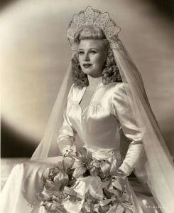 Ginger Rogers bridal Forties wedding dress