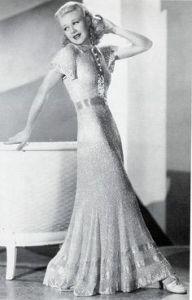 Ginger Rogers evening dress Thirties