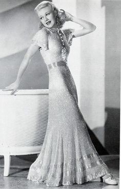 Ginger Rogers evening dress Thirties