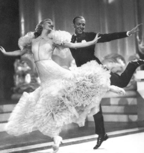 fred astaire ginger rogers thirties tea dress dance evening