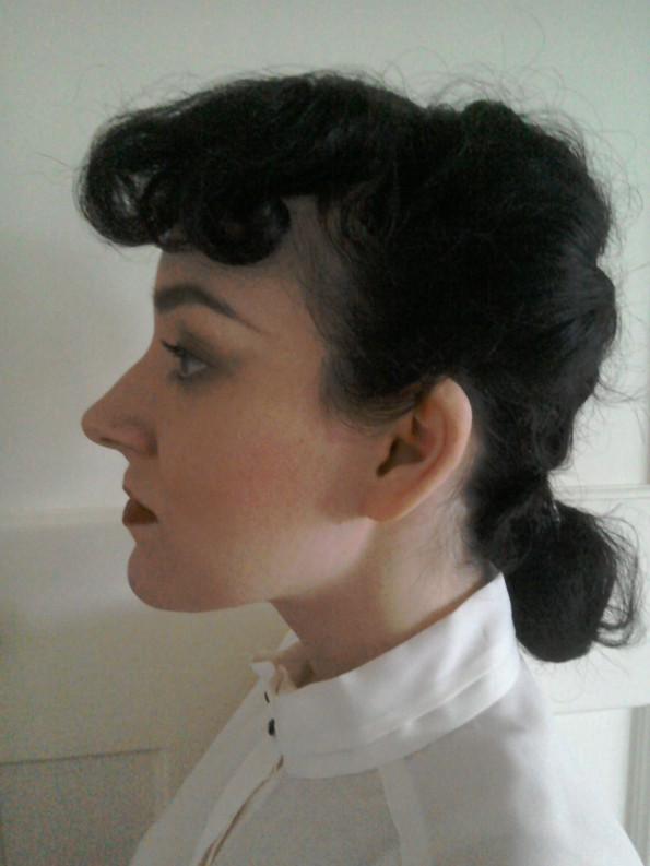 Blade runner Rachael Forties hairstyle