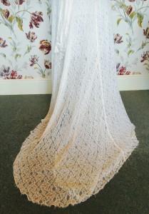 Vintage Thirties lace wedding dress train