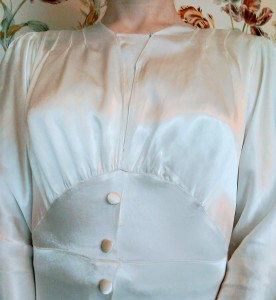 Vintage Thirties wedding dress bodice and modesty panel