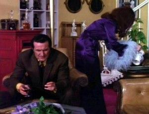 Tara King The Avengers Purple marabou dressing-gown Sixties