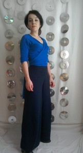 Palazzo pants wrap top Sixties style Tara King The Avengers inspi