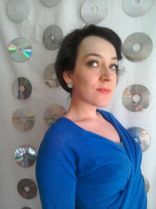 Big sparkly stud earrings and false eyelashes Sixties inspired Tara King The Avengers