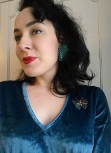 Vintage Fifties Sixties earrings butterfly brooch(2)