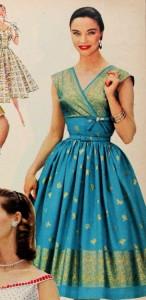 sari_1956 dress blue gold