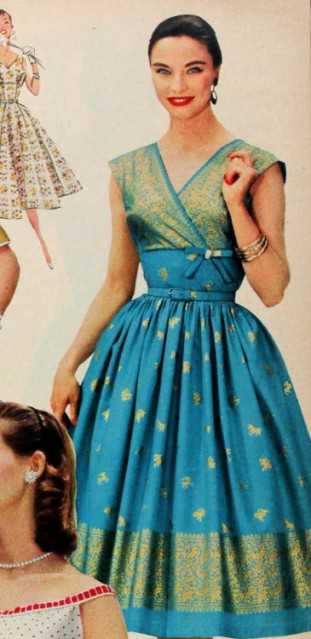 sari_1956 dress blue gold