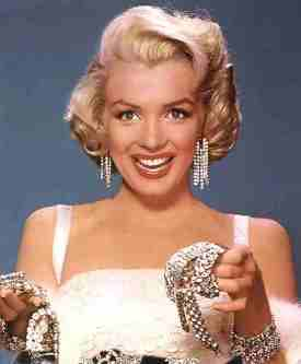 Marilyn Monroe bead earrings