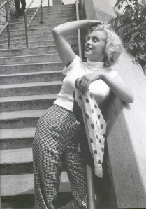 Marilyn Monroe gingham trousers