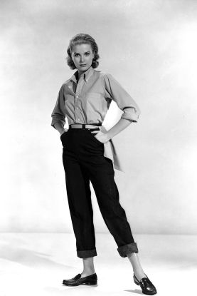 Grace Kelly jeans loafers