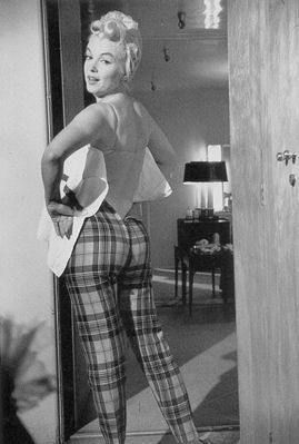 Marilyn checked trousers pants