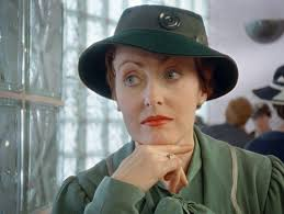 Miss Lemon green hat from Poirot