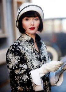 Miss Fisher - Cream and black cloche