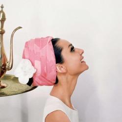 Audrey Hepburn pink hat