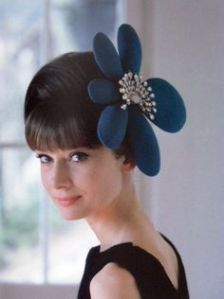 Audrey Hepburn flower fascinator