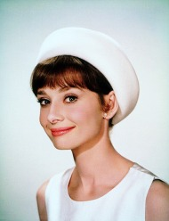 Audrey Hepburn cream hat