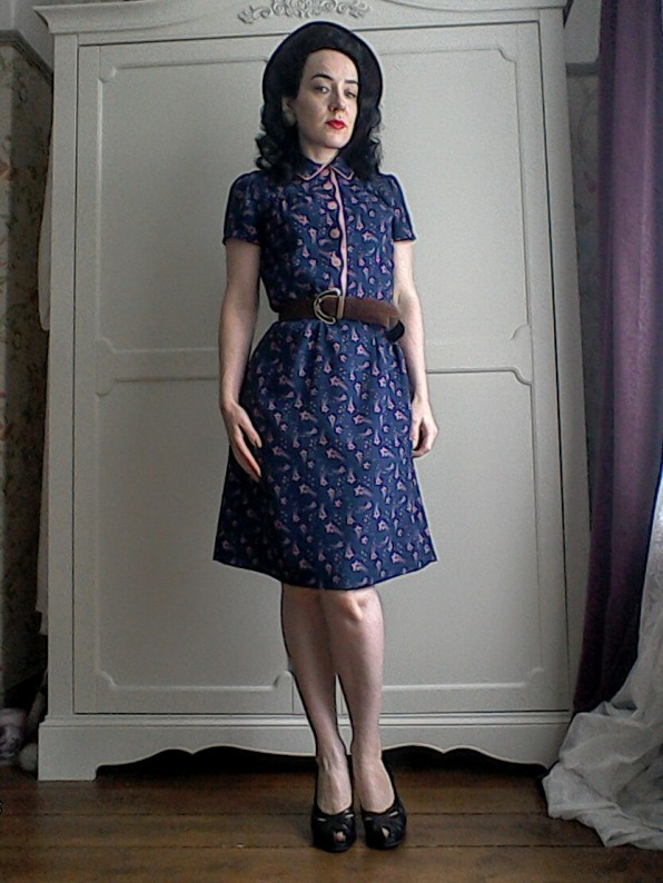 Forties style utility dress - by Jasmine Guinness