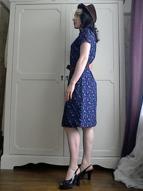 1940's style utility dress Jasmine Guinness designer