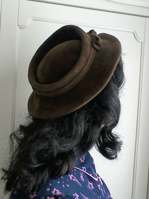 Brown Forties hat - back